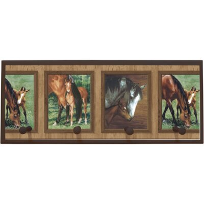 Illumalite Designs Mare and Foal Painting Print on Plaque