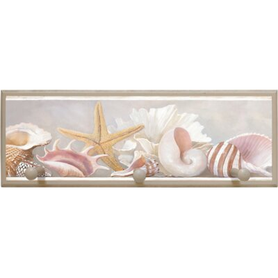 "Illumalite Designs Starfish and Shells Wall Art with Pegs - 7"" x 20.5"""