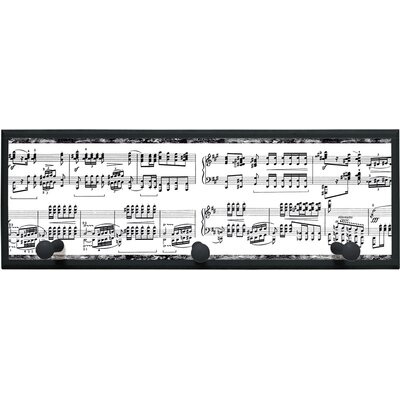 Musical Notes Wall Art with Pegs - 7