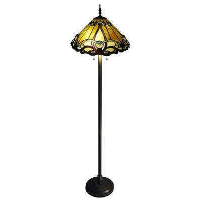 Chloe lighting tiffany style victorian torchiere floor for White victorian floor lamp