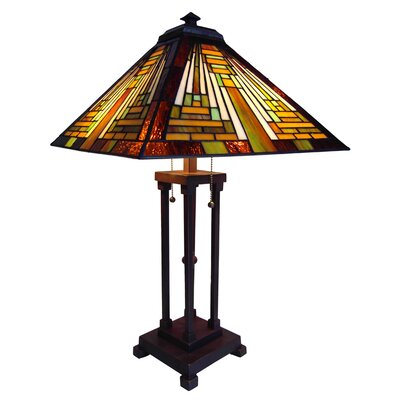 Chloe Lighting Tiffany Style Mission Table Lamp