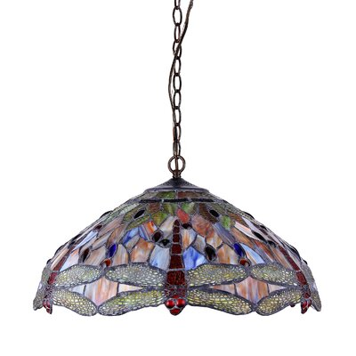 Chloe Lighting Dragonfly 3 Light Pendant