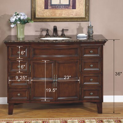 "Silkroad Exclusive Ridgefield 48"" Single Bathroom Vanity Set"