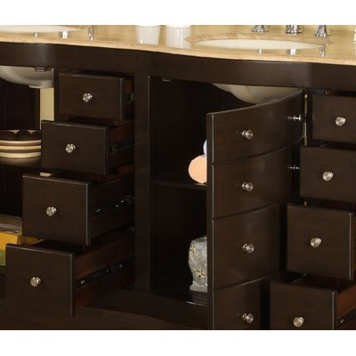 Exclusive Lancaster 72quot; Double Bathroom Vanity Set amp; Reviews  W