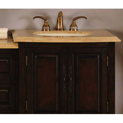 "Silkroad Exclusive Evelyn 72"" Double Sink Bathroom Vanity Set"
