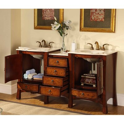 Silkroad exclusive northampton 67 double bathroom vanity for Bathroom design northampton