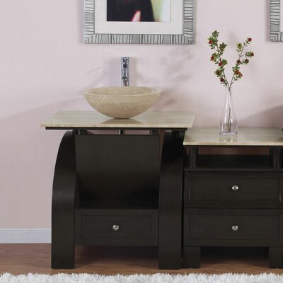 "Silkroad Exclusive Niagara 49"" Single Bathroom Vanity Set"