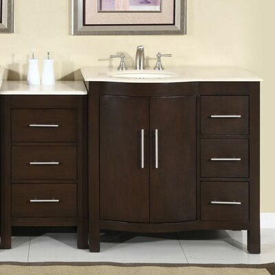 "Silkroad Exclusive Ilene 54"" Single Sink Bathroom Vanity Set"