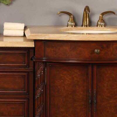 Silkroad exclusive victoria 52 single bathroom vanity set - 52 inch bathroom vanity double sink ...