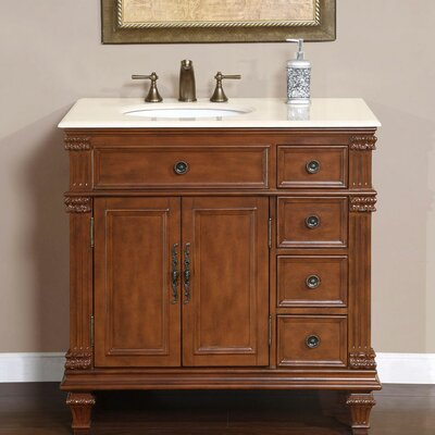 Bathroom Vanity Single Sink on Exclusive Esther 36  Single Sink Bathroom Vanity Set   Wayfair