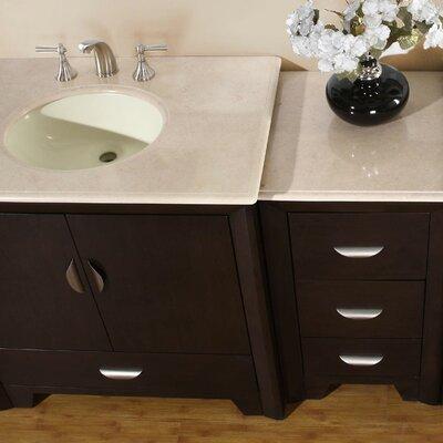 """Silkroad Exclusive Ilene 54"""" Single Bathroom Vanity Set ..."""