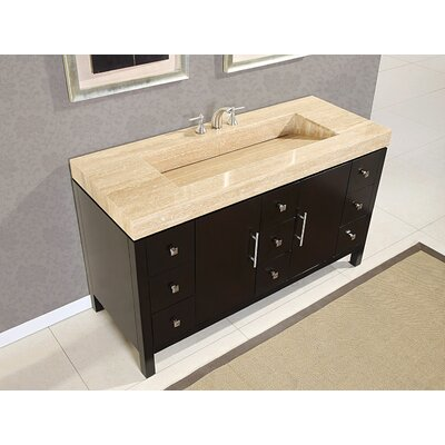 stanton 60 modern bathroom single vanity integrated sink set