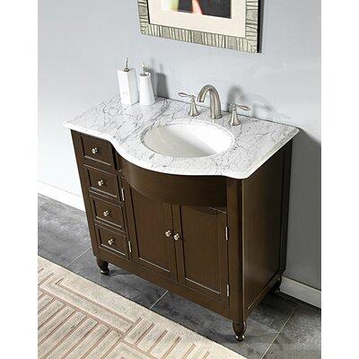 Silkroad Exclusive Kelston 38 Single Bathroom Vanity Set Reviews Wayfair