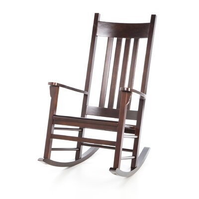 upholstered wood rocking chair wayfair