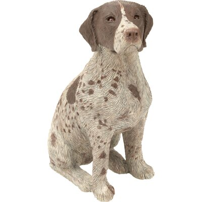 Sandicast Mid Size German Shorthaired Pointer Sculpture