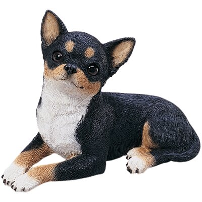 Sandicast Original Size Chihuahua Pup Sculpture in Tri