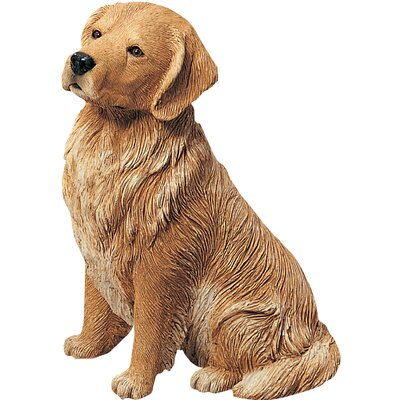 Sandicast Original Size Sitting Golden Retriever Sculpture