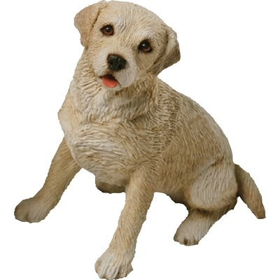 Sandicast Small Size Playful Labrador Retriever Sculpture in Yellow