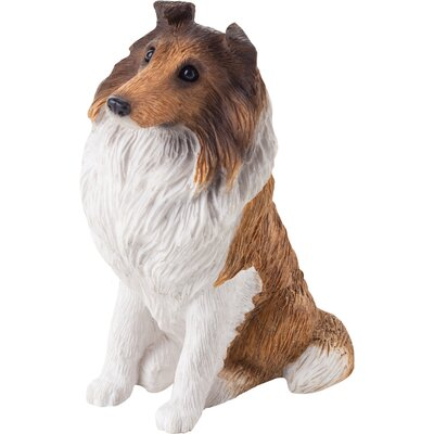 Sandicast Small Size Collie Sculpture in Sable / White