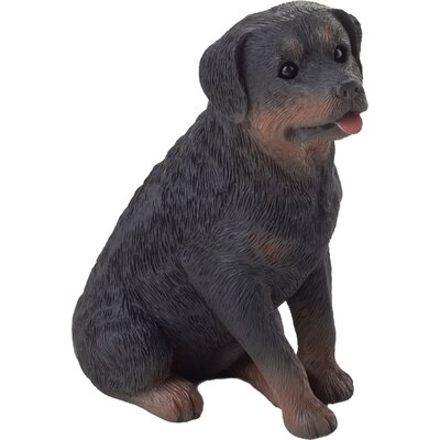 Sandicast Small Size Sitting Rottweiler Sculpture