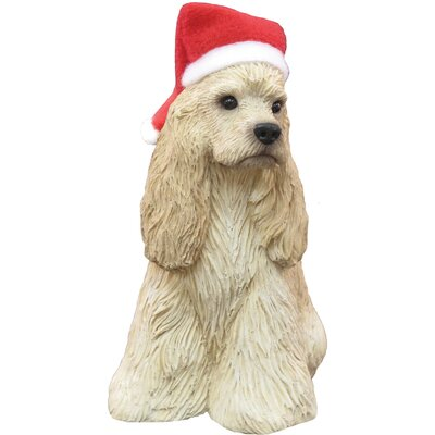 Sandicast Buff Cocker Spaniel Christmas Ornament