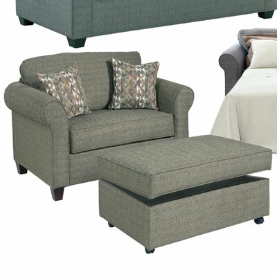 Serta Upholstery Cuddler Chair and Ottoman