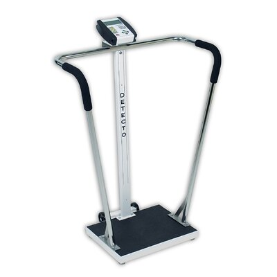 Detecto Portable High Capacity Digital Scale with Wrap Around Tubular Handrails