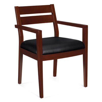 Offices To Go Stack and Guest Wood Framed Guest Chair
