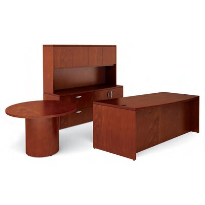Offices To Go Ventnor Standard Desk Office Suite with Round Table