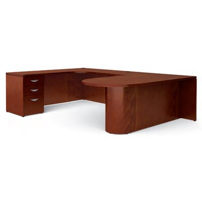 "Offices To Go Ventnor ""D"" Island U-Shaped Desk"