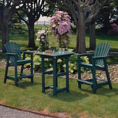 Seaside Casual Portsmouth 3 Piece Bar Height Dining Set