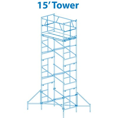 Granite Industries Homebuilder 15' Scaffold Tower with Leveling Jacks