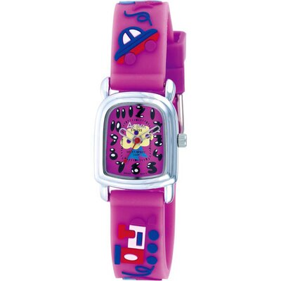 Juniors Tree Design Watch in Dark Pink