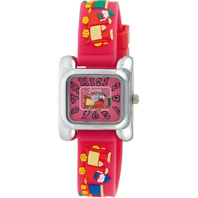 Activa Watches Juniors Train Design Watch in Watermelon