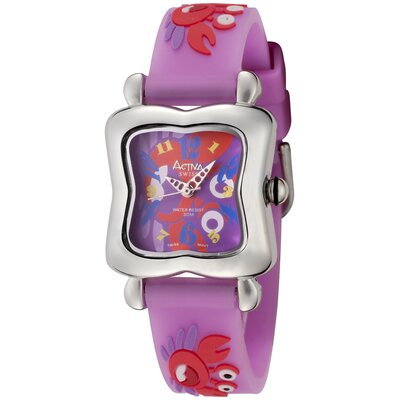 Juniors Multicolor Dial Crab Design Watch in Purple