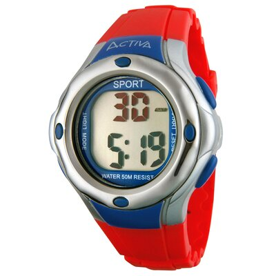 Midsize Digital Multi-Function Watch in Hot Pink