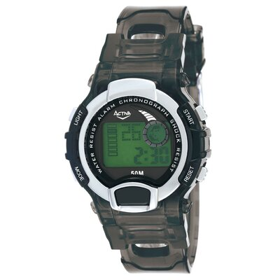 Activa Watches Midsize Digital Watch in Black