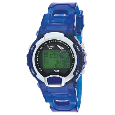 Women's Digital Multi-Function Watch in Black Transparent