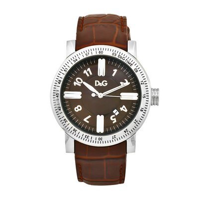 Men's Classic Watch with Brown Dial