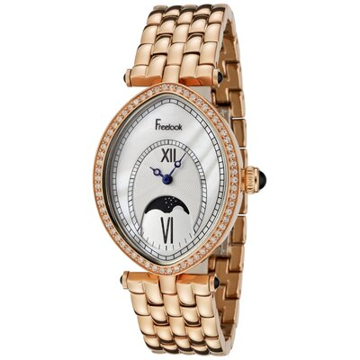 Freelook Women's Stardust Swarovski Watch with Crystal Rose Gold Tone