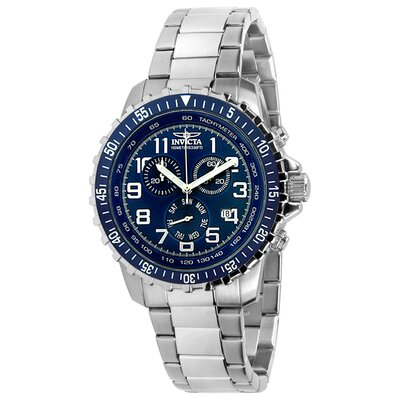 Invicta Men's II Chronograph Stainless Steel Watch in Blue