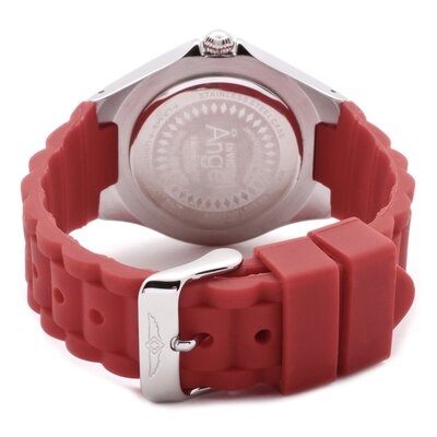 Invicta Women's Angel Watch in White Dial Red Silicon