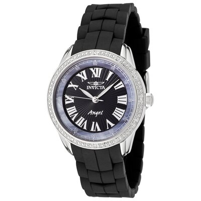 Women's Angel Diamond Watch in Black