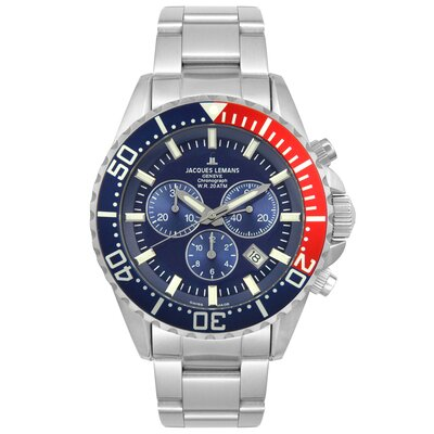 Men's Geneva Blue Dial Watch in Chronograph