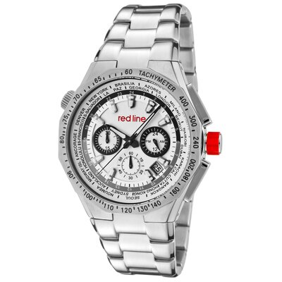 Red Line Men's Travel Chronograph Round Watch