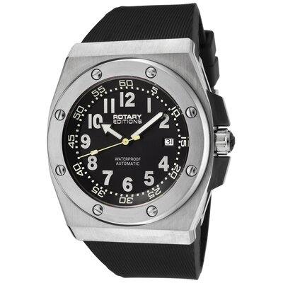 Men's Editions Automatic Black Rubber Watch