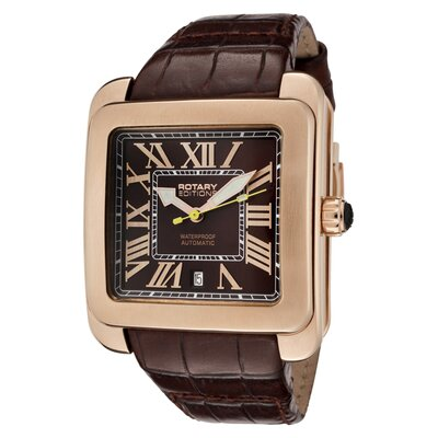 Rotary Watches Men's Editions Automatic Brown Leather Watch