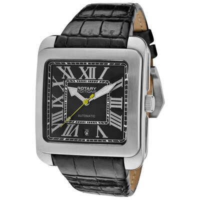 Rotary Watches Men's Editions Automatic Tone Case Rectangle Watch