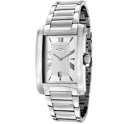 Men's Textured Rectangle Watch