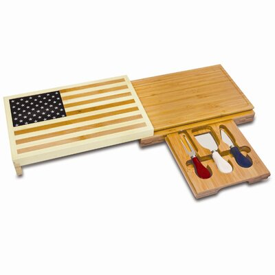 Picnic Time Old Glory Cutting Board